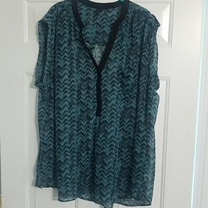 Maurices size 3 sleeveless sheer blouse